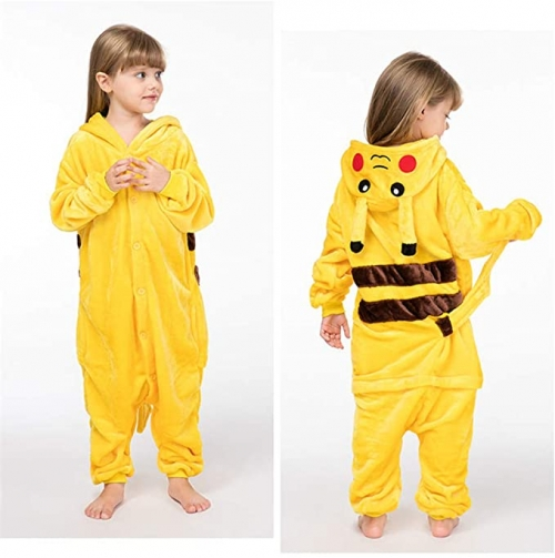 IUTOYYE Combinaison Pyjama Pikachu Taille 130