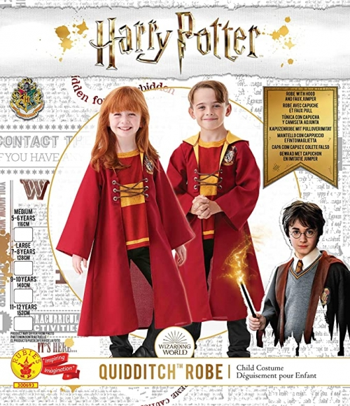 Deguisement Harry Potter Robe Quidditch Rouge Taille XL (9-10 ans)