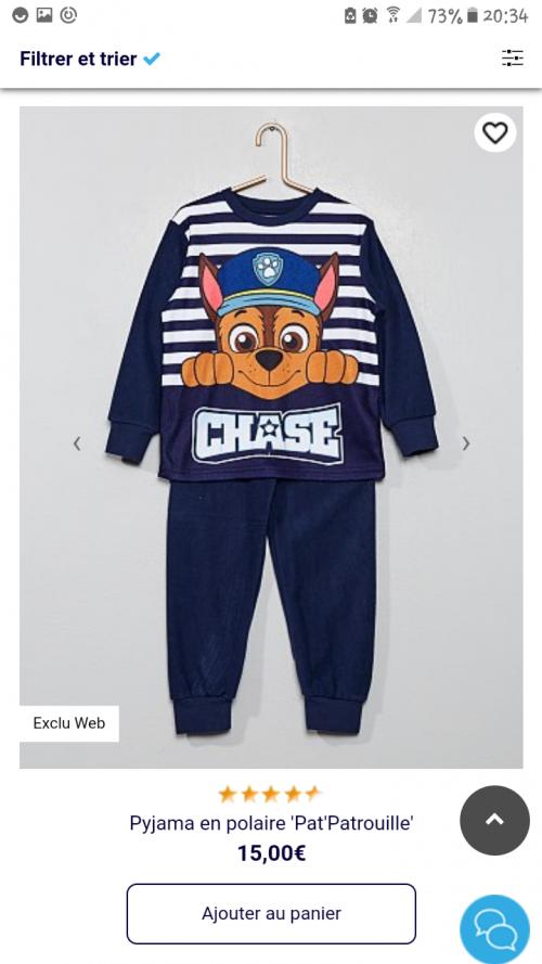 Pyjama kiabi 6 ans